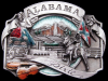 GREAT VINTAGE 1986 ALABAMA DIXIE SOUVENIR PEWTER BUCKLE