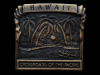 KE19102 VINTAGE 1970s ***HAWAII*** CROSSROADS OF THE PACIFIC BELT BUCKLE