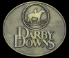 JJ04157 COOL VINTAGE 1970s ***DARBY DOWNS*** HORSE RACING BUCKLE