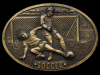 COOL VINTAGE 1977 **THE SPORT OF SOCCER** BELT BUCKLE