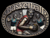 KF19150 GREAT VINTAGE 1983 ***BASKETBALL*** COMMEMORATIVE BRASSTONE BELT BUCKLE