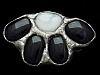 KD27174 VINTAGE 1970s ***ABSTRACT STYLE AGATE STONES*** BELT BUCKLE