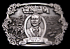 JC06130 VINTAGE 1991 **CHISHOLM TRAIL FESTIVAL** NEWTON KANSAS PEWTER BUCKLE