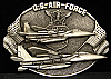 1982 VINTAGE BUCKLE *U.S. AIR FORCE* FIGHTER AIRPLANES