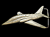 KC23153 VINTAGE 1978 BARON CUT-OUT ***JET AIRPLANE*** SOLID BRASS BELT BUCKLE