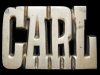 JL27165 VINTAGE 1970s CUT-OUT NAME ***CARL*** SOLID BRASS BUCKLE