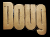 JH23170 VINTAGE 1978 CUT-OUT NAME ***DOUG*** SOLID BRASS BUCKLE