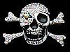 KE29171 VERY COOL CUT-OUT ***SKULL & CROSSBONES*** BELT BUCKLE