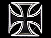KF11164 REALLY NICE 2000 GREAT AMERICAN ***IRON CROSS*** PEWTER BELT BUCKLE