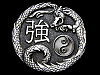 KH05126 COOL ***CHINESE SYMBOL FOR STRENGTH*** (DRAGON) BELT BUCKLE