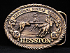 HK17116 VINTAGE ***1980 NATIONAL FINALS RODEO*** HESSTON NFR BELT BUCKLE
