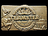 KH11148 GREAT VINTAGE 1978 ***TEAMSTER*** ORGANIZATION SOLID BRASS BELT BUCKLE