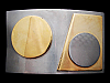 KH11159 VINTAGE 1970s ***ABSTRACT STYLE GEO SHAPES*** BELT BUCKLE