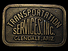 HL09145 VINTAGE 1970s **TRANSPORTATION SERVICES, INC** BELT BUCKLE