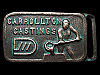 KH13160 VINTAGE 1970s ***CARROLLTON CASTINGS*** SOLID BRASS BUCKLE