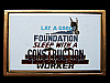 KH15105 GREAT 1983 LAY A GOOD FOUNDATION SLEEP WITH A CONSTRUCTION WORKER BUCKLE