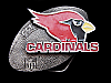 KH19163 VINTAGE 1994 **PHOENIX CARDINALS** NFL FOOTBALL PEWTER BELT BUCKLE