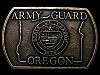 KJ01110 REALLY NICE VINTAGE 1970s ***ARMY GUARD - OREGON*** MILITARY BELT BUCKLE