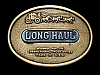 KJ01144 VINTAGE 1970s ***LONG HAUL CHEWING TOBACCO*** SOLID BRASS BUCKLE