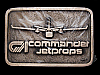 KJ01147 *NOS* VINTAGE 1980s **COMMANDER JETPROPS** SOLID BRASS BELT BUCKLE