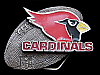 KJ03118 VINTAGE 1994 **PHOENIX CARDINALS** NFL FOOTBALL TEAM PEWTER BELT BUCKLE