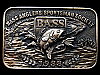 KJ05115 NICE VINTAGE 1988 **BASS ANGLERS SPORTSMAN SOCIETY** BELT BUCKLE