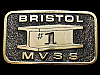 KJ07104 GREAT VINTAGE 1979 **BRISTOL #1** MVSS STEEL I-BEAM  BELT BUCKLE
