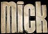 KJ08135 *NOS* VINTAGE 1970s CUT-OUT NAME ***MICK*** SOLID BRASS BUCKLE