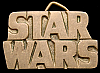 KJ10173 VINTAGE 1970s **STAR WARS** CUT-OUT SOLID BRASS MOVIE LOGO BELT BUCKLE