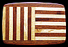KJ20119 GREAT VINTAGE 1970s ***ABSTRACT BARS*** WOODEN INLAY ARTWORK BUCKLE