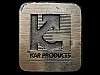 KJ21104 VINTAGE 1980 **KAR PRODUCTS, INC.** COMPANY BRASSTONE BELT BUCKLE