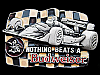 1992 NOTHING BEATS A BUDWEISER (FORMULA ONE RACECAR) BEER BUCKLE