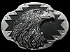 KJ27105 REALLY NICE 1990 SOUTHWESTERN STYLE **BALD EAGLE** PEWTER BELT BUCKLE