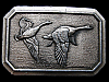 KJ29115 VINTAGE 1976 GREAT AMERICAN ***TWO FLYING GEESE*** PEWTER BELT BUCKLE