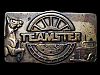 KK05129 VERY COOL VINTAGE 1970s ***TEAMSTER*** (UNION) SOLID BRASS BUCKLE