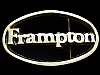 KK07161 VINTAGE 1970s CUT-OUT ***FRAMPTON*** MUSIC SOUVENIR SOLID BRASS BUCKLE