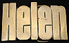 KK08111 *NOS* VINTAGE 1970s CUT-OUT NAME ***HELEN*** SOLID BRASS BUCKLE