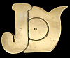 KK08117 *NOS* VINTAGE 1970s CUT-OUT NAME ***JOY*** SOLID BRASS BUCKLE