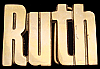 KK08128 *NOS* VINTAGE 1970s CUT-OUT NAME ***RUTH*** SOLID BRASS BUCKLE