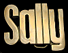 KK08129 *NOS* VINTAGE 1970s CUT-OUT NAME ***SALLY*** SOLID BRASS BELT BUCKLE