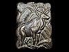 KK19155 VERY COOL VINTAGE 1970s ***BIG BULL ELK*** SOLID BRASS BELT BUCKLE