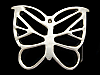 KK29117 *NOS* GREAT 1970s HIPPIE STYLE CUT-OUT **BUTTERFLY** SOLID BRASS BUCKLE