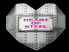 KL03149 *NOS* COOL 2006 CUT-OUT ***HEART OF STEEL*** (HEART-SHAPED) BELT BUCKLE