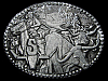 KL05108 VINTAGE 1970s ****SHEPLERS WESTERN WEAR**** PEWTER BELT BUCKLE
