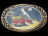 KL05148 VINTAGE 1983 ***FIRE TRUCK COMMEMORATIVE*** SOLID BRASS BUCKLE