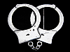 KL07140 REALLY COOL CUT-OUT *******HANDCUFFS******* PEWTER BELT BUCKLE