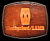 KL10118 VINTAGE 1970s ***WEATHERFORD / LAMB*** BRASS & LEATHER OILFIELD BUCKLE