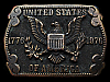 LA03164 VINTAGE 1976 ***UNITED STATES OF AMERICA*** (EAGLE EMBLEM) BELT BUCLE
