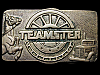 GREAT VINTAGE 1978 TEAMSTER (LABOR UNION) SOLID BRASS BUCKLE