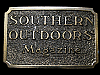 LA17104 VINTAGE 1982 ****SOUTHERN OUTDOORS MAGAZINE**** BELT BUCKLE